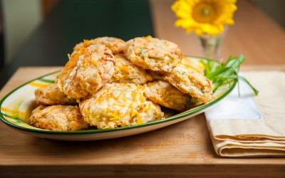 CHEDDAR CHEESE & CHIVE BISCUITS
