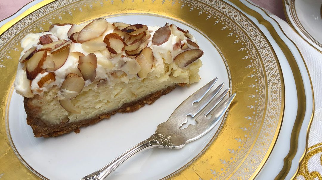 PATTY'S PICK: White Chocolate-Almond Cheesecake