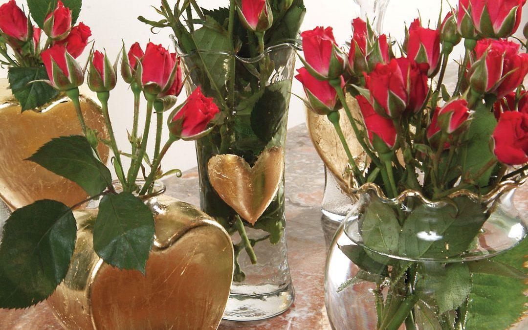 DIY Gold-Leaf Vases