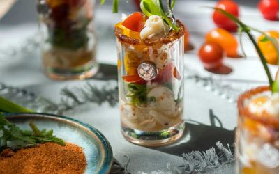 Crabmeat Shooters with Heirloom Tomatoes