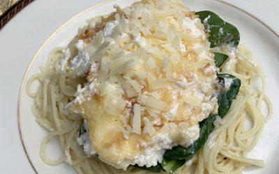 Patty's Pick: Chicken Florentine over Angel Hair Pasta