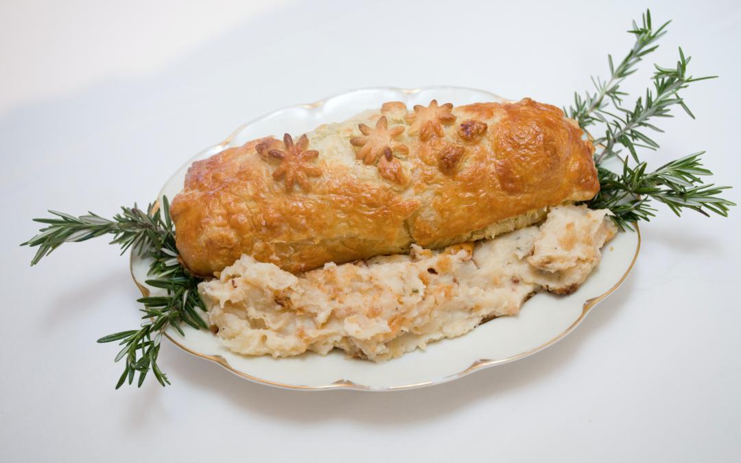 Peppercorn Tenderloin in Puff Pastry & Potato Casserole