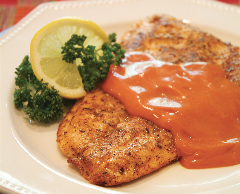 Broiled Blackened Salmon with Creole Sauce