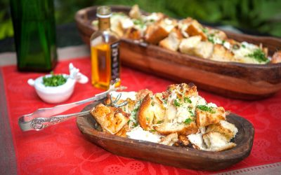 Warm Truffle Bread with Fresh Mozzarella and Ricotta Cheese