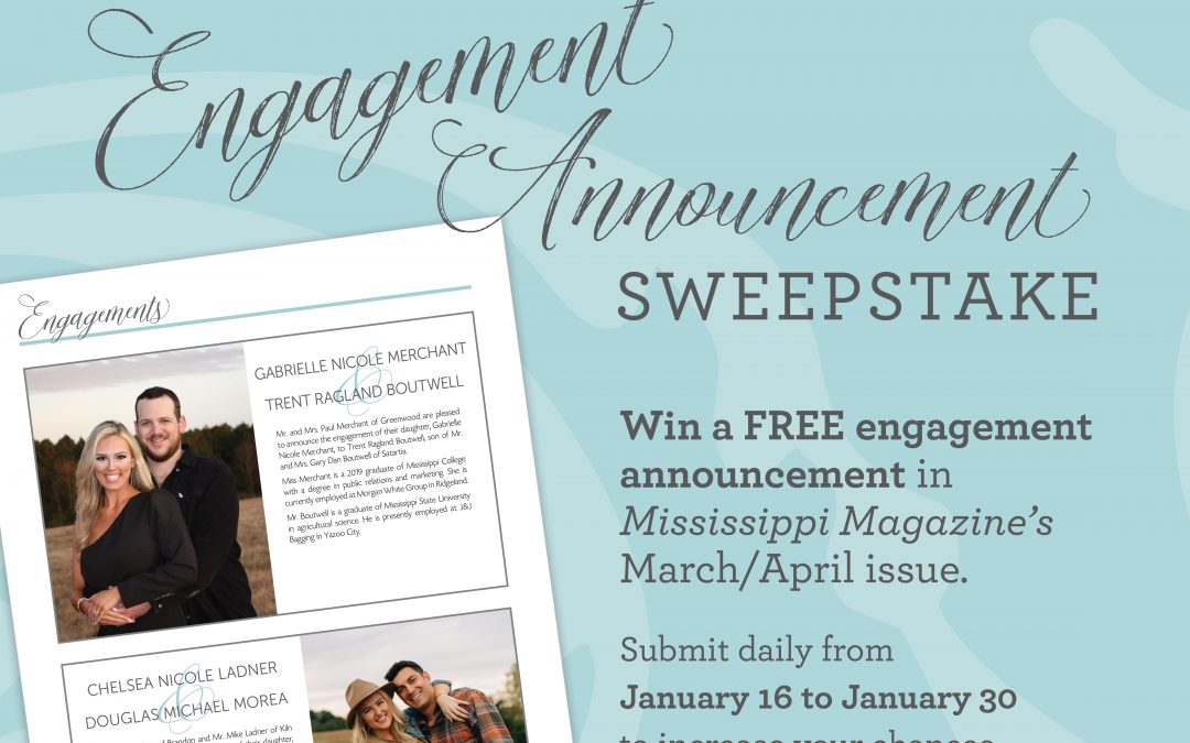 Engagement Announcement Sweepstakes!