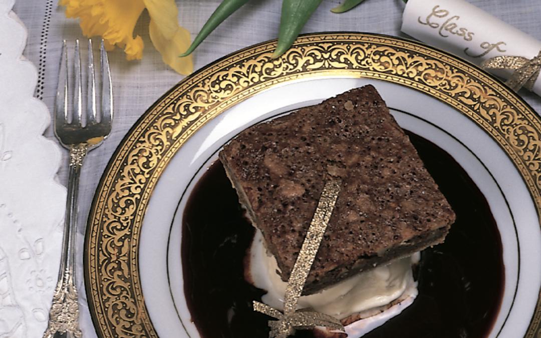 Mortar Board Brownie Dessert