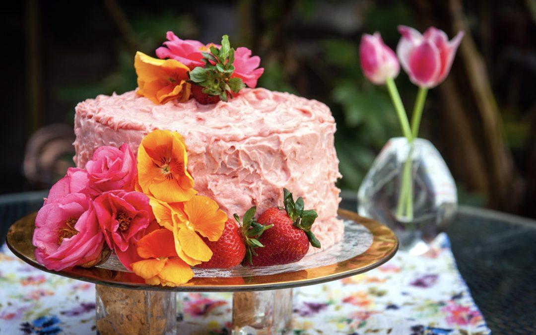 Strawberry Cake with Classic Strawberry Buttercream